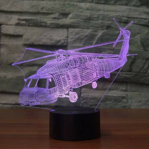 Sikorsky SH-60 seahawk  3D LAMP 8 CHANGEABLE COLORS