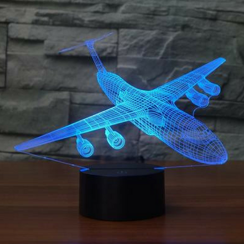 LOCKHEED C5 GALAXY SAUIR 3D LAMP 8 CHANGEABLE COLORS