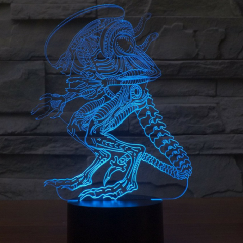 ALIEN 3D Lamp 8 Changeable Colors big size [FREE SHIPPING]