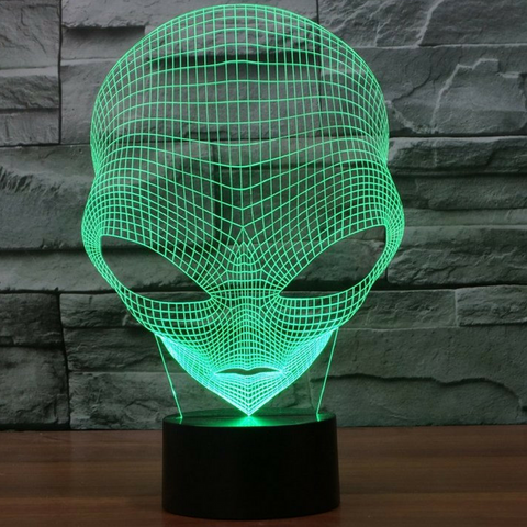ALIEN 3D  Lamp 8 Changeable Color [FREE SHIPPING]