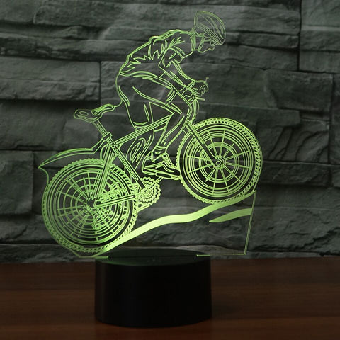 BICYCLE  3D Lamp 8 Changeable Color [FREE SHIPPING]