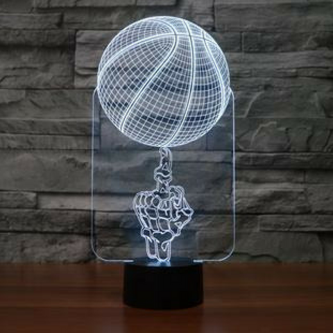 BASKET BALL HAND 3D  Lamp 8 Changeable Color [FREE SHIPPING]