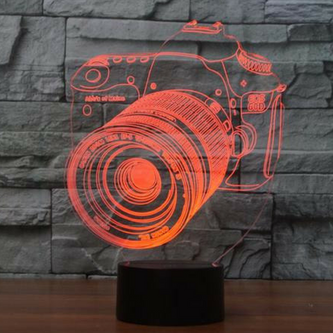 CAMERA 3D  Lamp 8 Changeable Color [FREE SHIPPING]