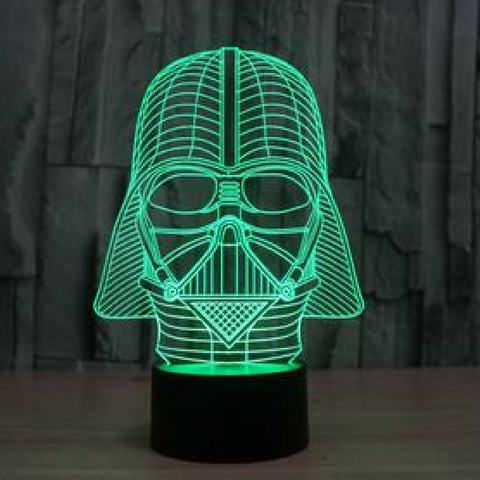 Darth Vader  3DLamp 8 Changeable Color (FREE SHIPPING)