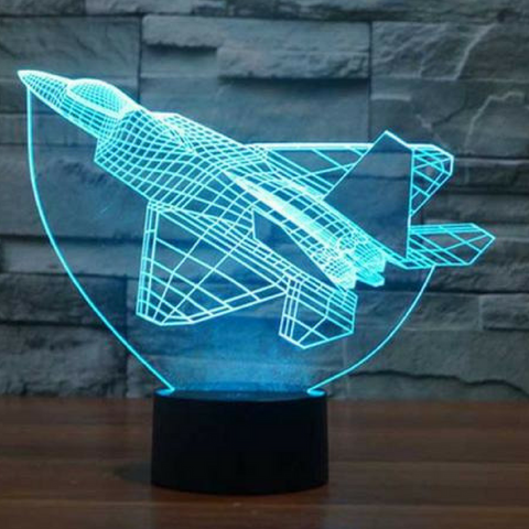 F-22 RAPTOR  3D LAMP 8 Changeable Colors big size [FREE SHIPPING]