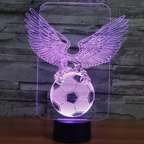Eagle soccer 3D  Lamp 8 Changeable Color [FREE SHIPPING]