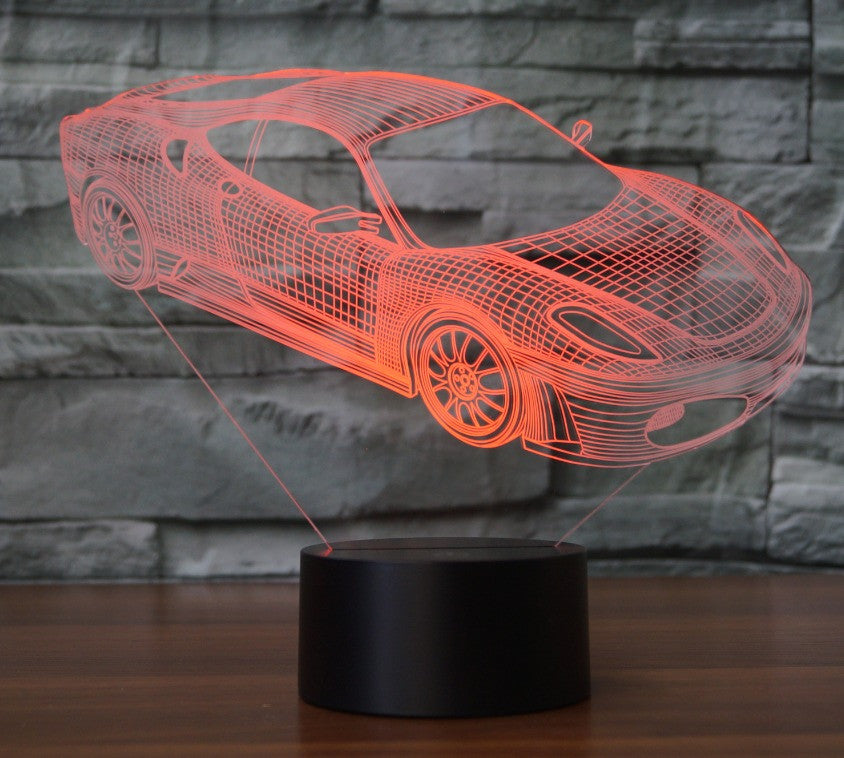 FERRARI 3D Lamp 8 Changeable Colors big size [FREE SHIPPING]