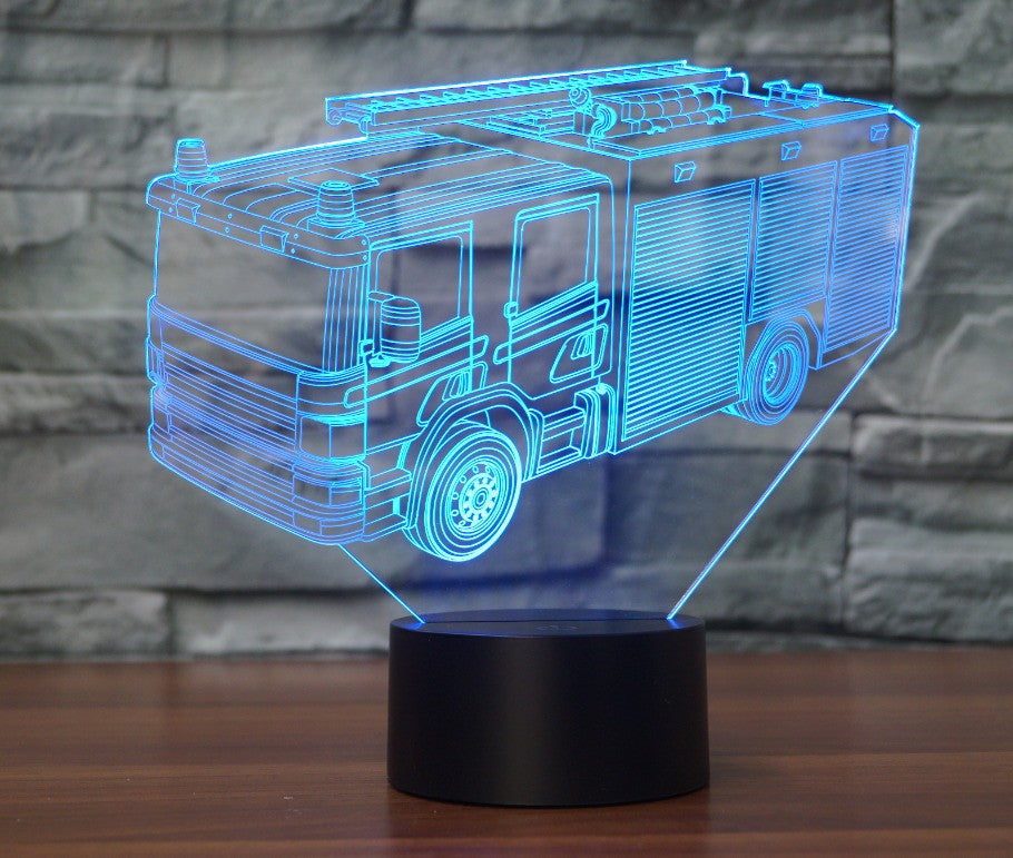 FIRE TRUCK 3D Lamp 8 Changeable Colors big size [FREE SHIPPING]