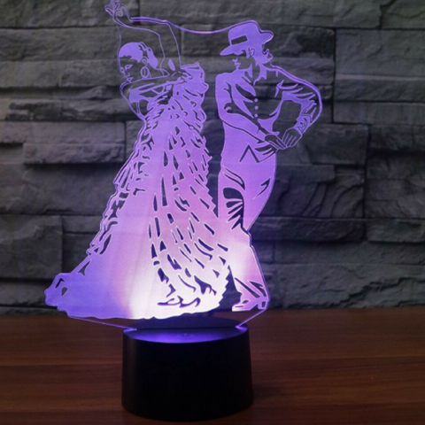 Flamenco Dance  3D  Lamp 8 Changeable Color [FREE SHIPPING]