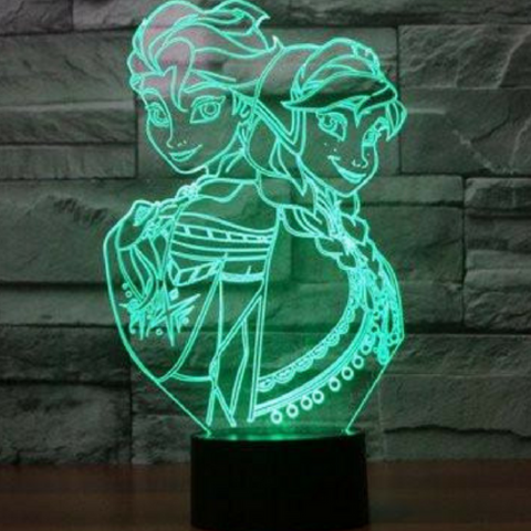 Frozen 3D Lamp 8 Changeable Color (FREE SHIPPING)