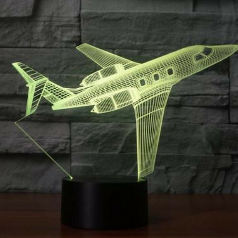 BOMBARDIER CHALLENGER 600   3D LAMP 8 Changeable Colors big size [FREE SHIPPING]