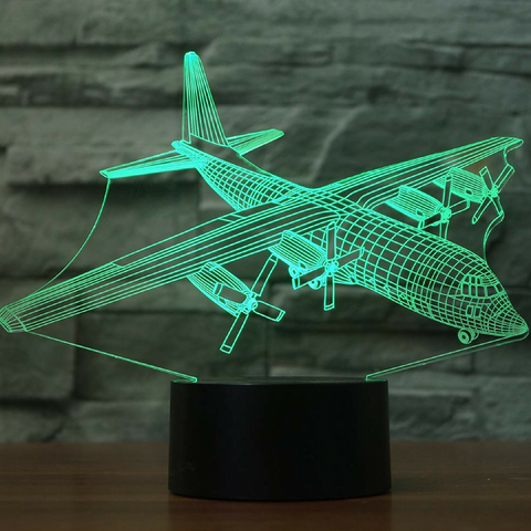 Lockheed C130 Hercules 3D LAMP 8 CHANGEABLE COLORS