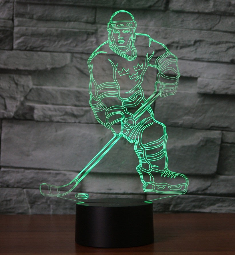 HOCKEY 1 3D  Lamp 8 Changeable Color [FREE SHIPPING]