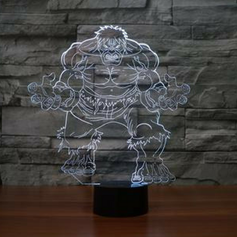 HULK 3D Lamp 8 Changeable Color [FREE SHIPPING]
