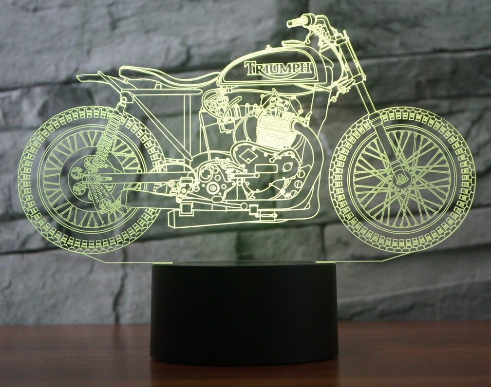 TRIUMPH 2 3D  Lamp 8 Changeable Color [FREE SHIPPING]
