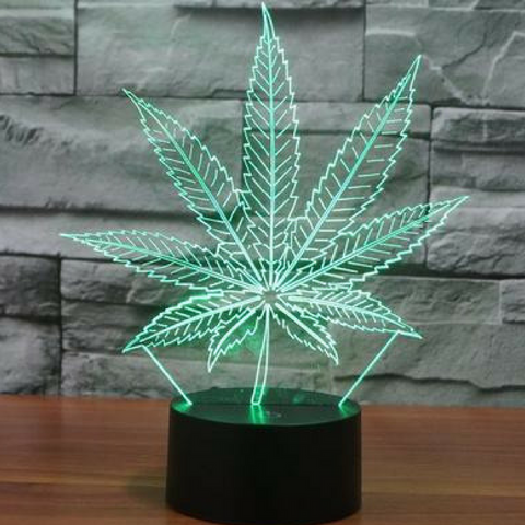 MARIJUANA 3D  Lamp 8 Changeable Color [FREE SHIPPING]