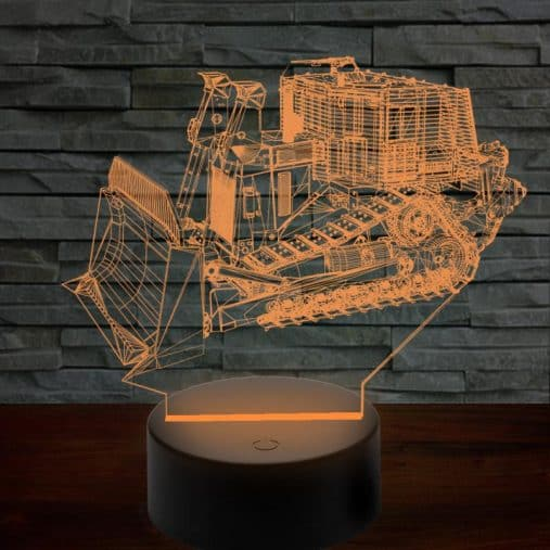Armored D9R Bulldozer 3D Lamp 8 Changeable Colors  [FREE SHIPPING]