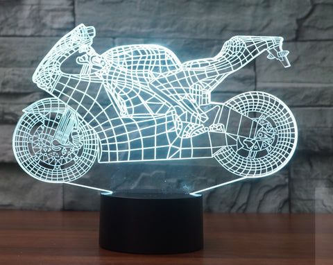 SPORT BIKE 1 3D  Lamp 8 Changeable Color [FREE SHIPPING]