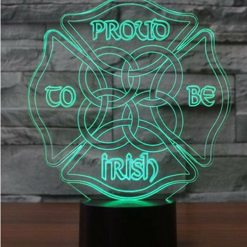 PROUD IRISH  Lamp 8 Changeable Color [FREE SHIPPING]