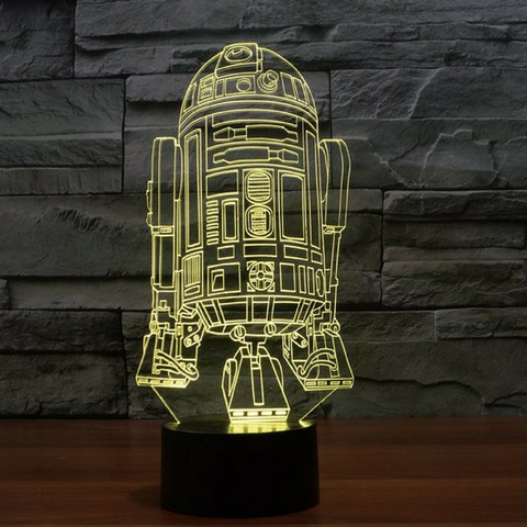 R2D2 3D Lamp 8 Changeable Colors big size [FREE SHIPPING]