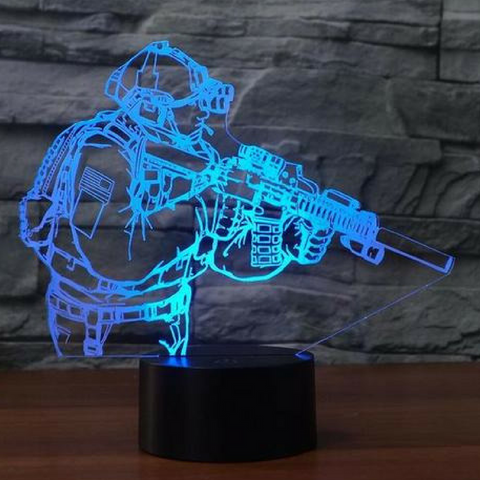 SOLDIER 3D LAMP 8 Changeable Colors  [FREE SHIPPING]