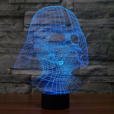 DARTH VADER 3D Lamp 8 Changeable Color  [FREE SHIPPING]