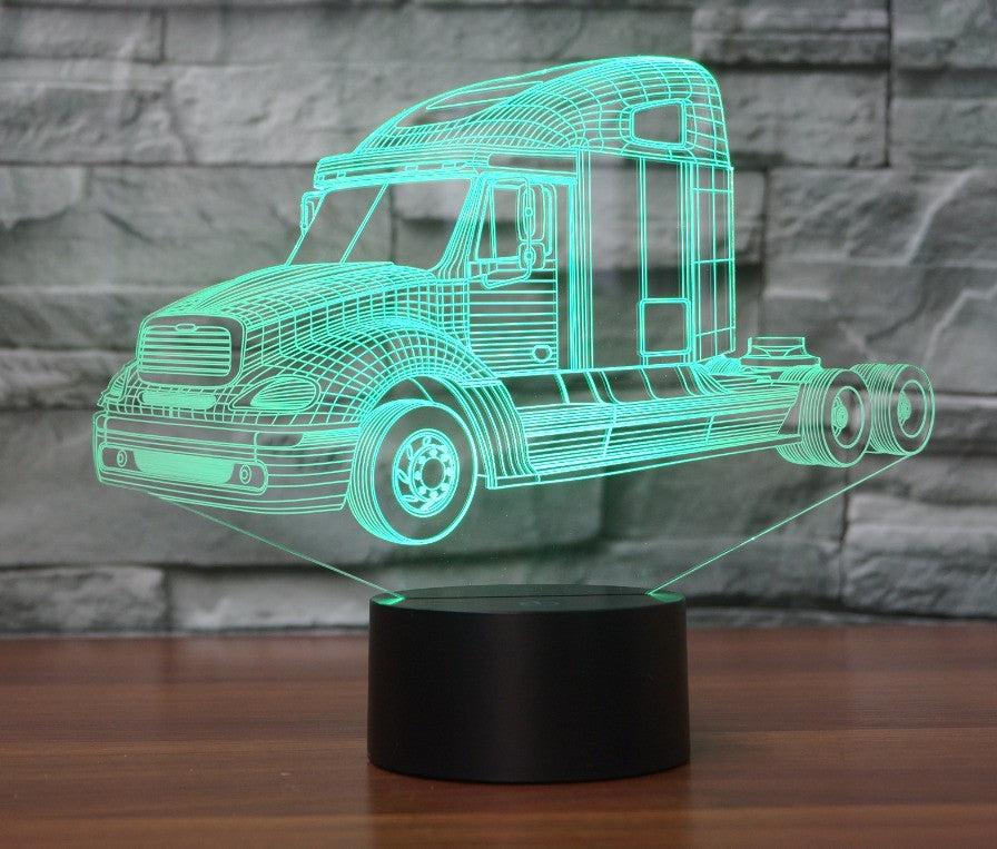 Freightliner Columbia TRUCK 3D Lamp 8 Changeable Colors big size [FREE SHIPPING]