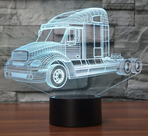 TRUCK 3D Lamp 8 Changeable Colors big size [FREE SHIPPING]