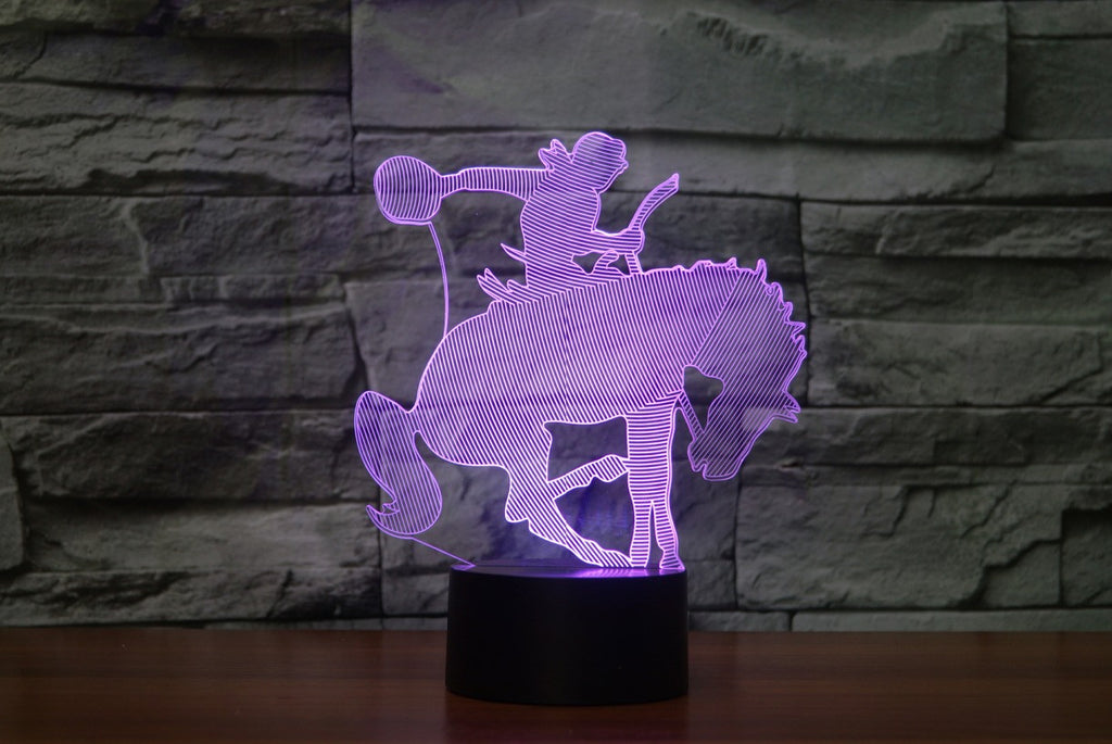 COWBOY 3D  Lamp 8 Changeable Color [FREE SHIPPING]
