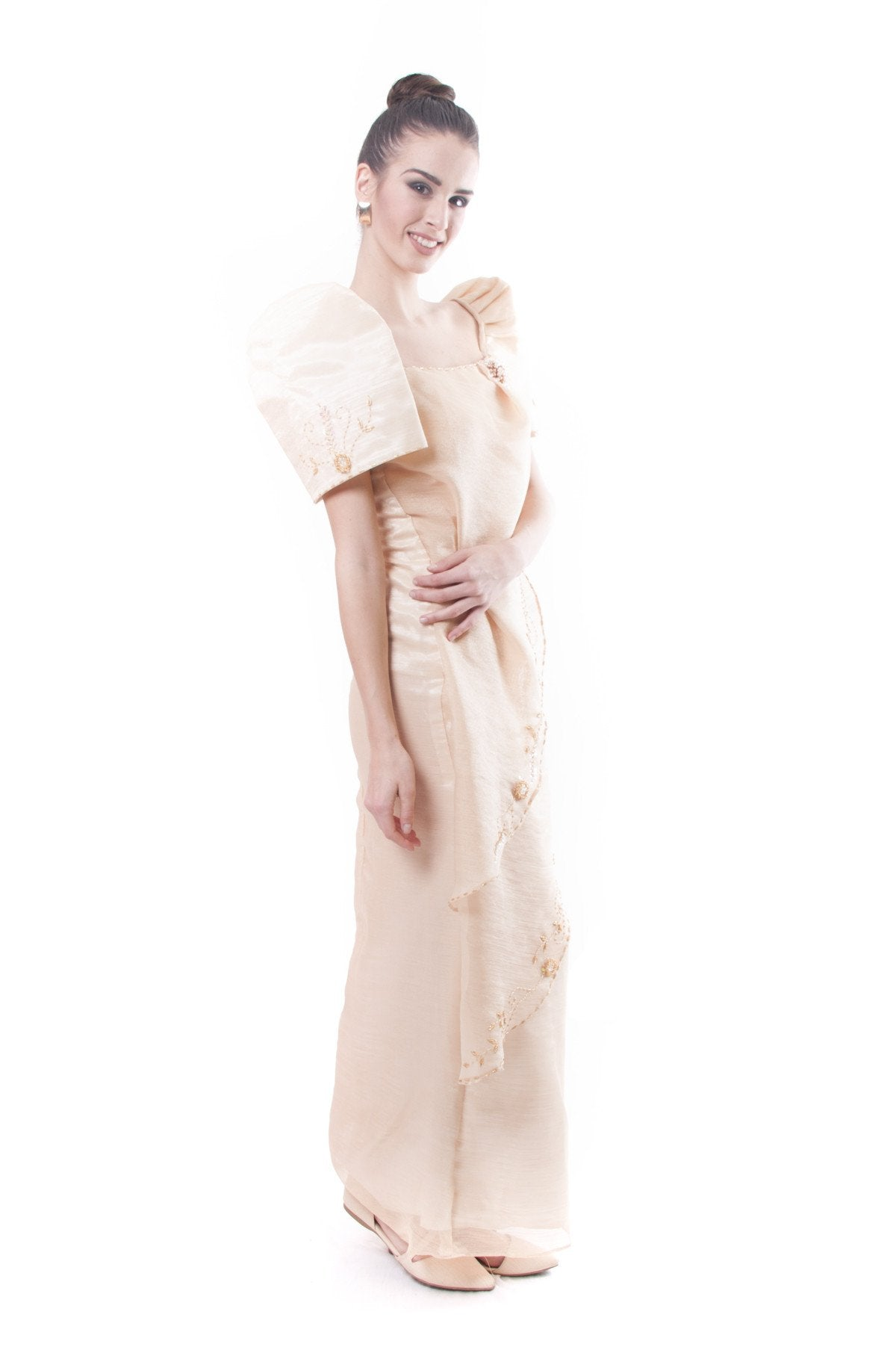 PRE-ORDER - Filipiniana Two-Layer Gown 002 - Barong Warehouse PH
