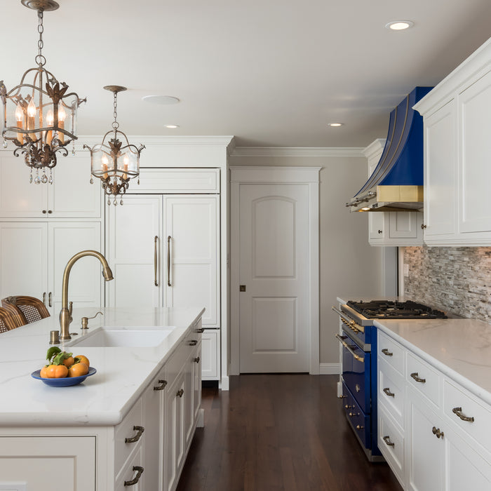 Design by Venue, Jackie Lopey, Moraga Kitchen Remodel - White Cabinets - Sink on Island