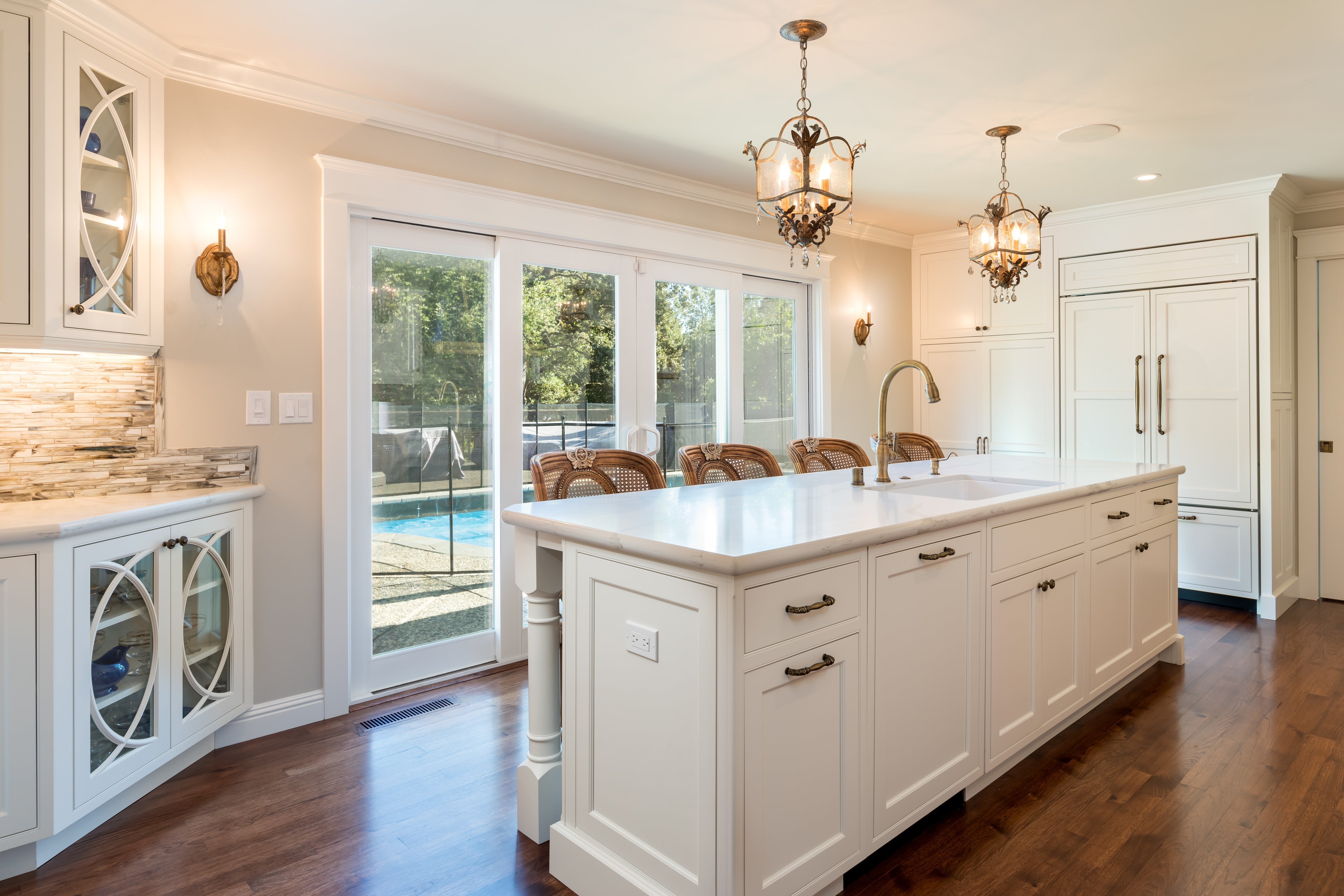 Design by Venue, Jackie Lopey, Moraga Kitchen Remodel - White Cabinets - French Influence