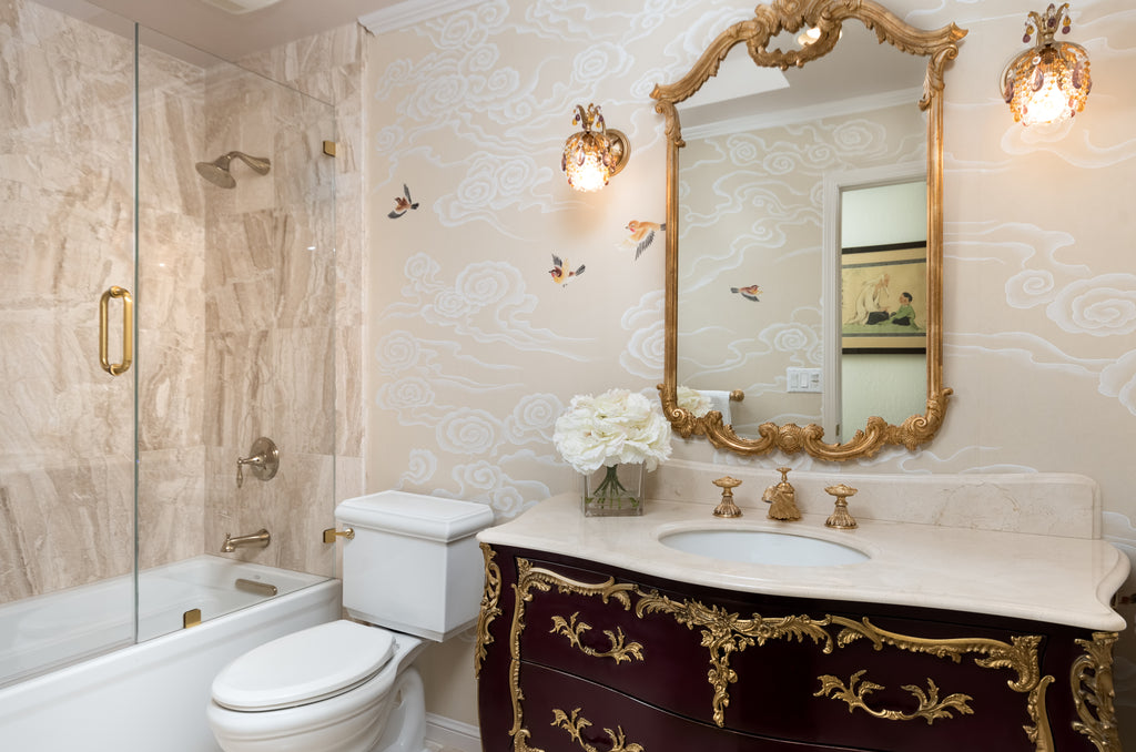 Gold Opulence Bathroom, Walnut Creek Jackie Lopey Design