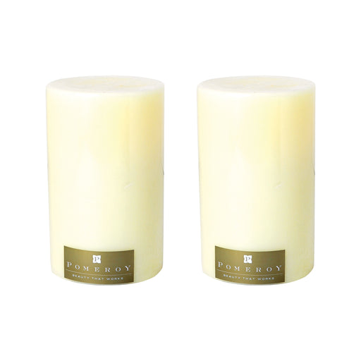 "030079/S2 Set of 2 Pillar Candles - 5"" x 8"" Ivory"