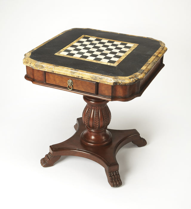 Carlyle Fossil Stone Game Table