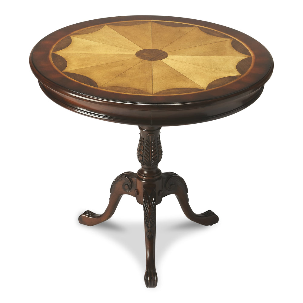Carissa Plantation Cherry Round Pedestal Table
