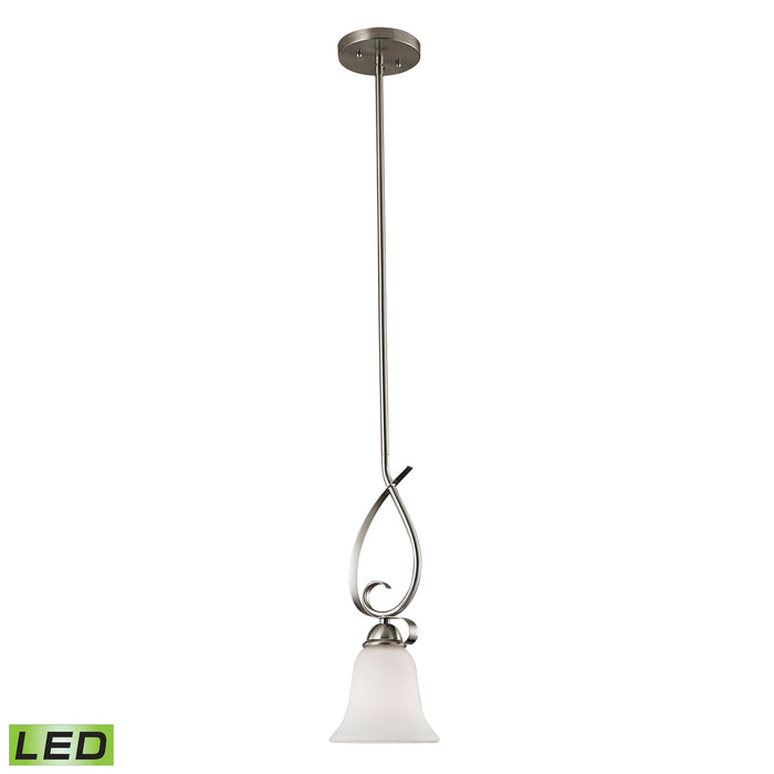 Thomas Lighting 1001PS/20-LED Brighton 1 Light Mini Pendant In Brushed Nickel With LED Option Brushed Nickel