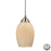 ELK Lighting 10222/1COC-LA Favela 1 Light Pendant In Satin Nickel Includes Adapter Kition Of A Rec Satin Nickel Free Parcel Delivery