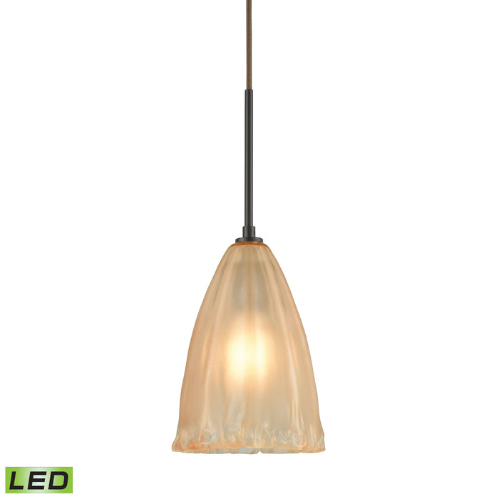 ELK Lighting 10439/1-LED Calipsa 1 Light LED Pendant In Oil Rubbed Bronze Oil Rubbed Bronze Free Parcel Delivery