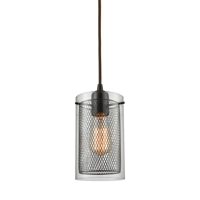 ELK Lighting 10448/1 Brant 1 Light Pendant In Oil Rubbed Bronze Oil Rubbed Bronze Free Parcel Delivery