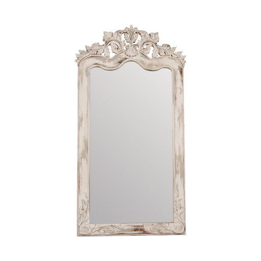 105014CEW Crossroads Florentine Floor Mirror Crossroads European White