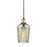 ELK Lighting 10830/1 Hammered Glass 1 Light Pendant In Oil Rubbed Bronze With Hammered Mercury Glass Oil Rubbed Bronze Free Parcel Delivery