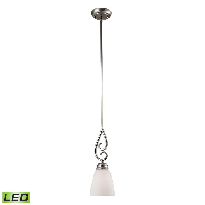 Thomas Lighting 1101PS/20-LED Chatham 1 Light Mini Pendant In Brushed Nickel With LED Option Brushed Nickel