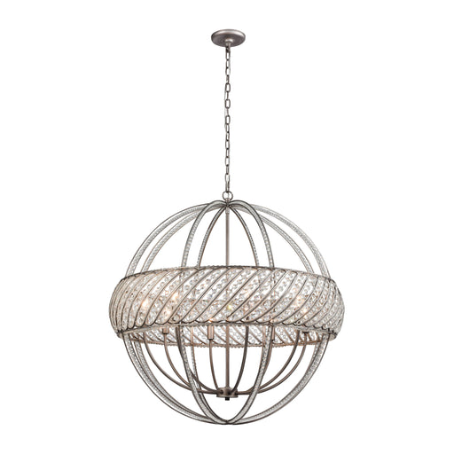 ELK Lighting 11095/8 Bradington 8 Pendant Weathered Zinc Weathered Zinc Free Threshold Delivery