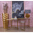 1114-316 Equus Small Console Table Antique Gold Leaf, White