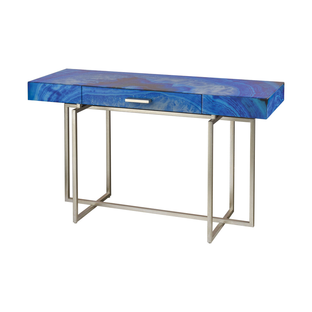 1114-369 Five-O Desk Blue, Silver