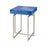 1114-370 Five-O Accent Table Blue Agate, Silver