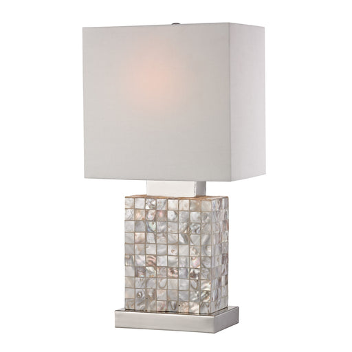 112-1155 Mini Mother Of Pearl Lamp Chrome, Mother Of Pearl