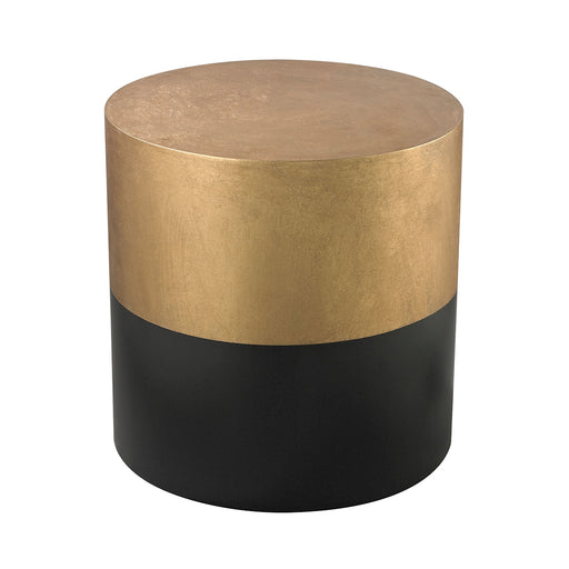 114-121 Black And Gold Draper Drum Table Antique Gold, Black