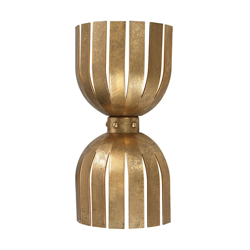 114-141 Gold Leaf Olympia Double Wall Sconce Antique Gold Leaf